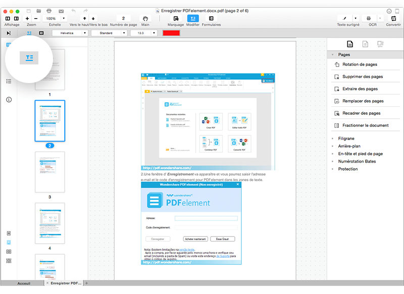 Wondershare PDFElement 3 - PDFelement : un éditeur de PDF très complet sur Mac