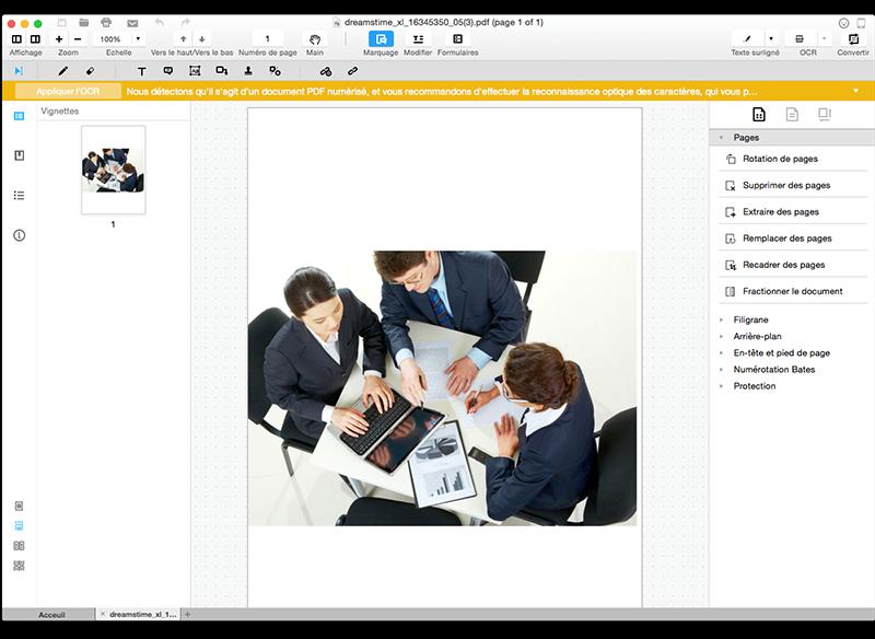 Wondershare PDFElement 4 - PDFelement : un éditeur de PDF très complet sur Mac