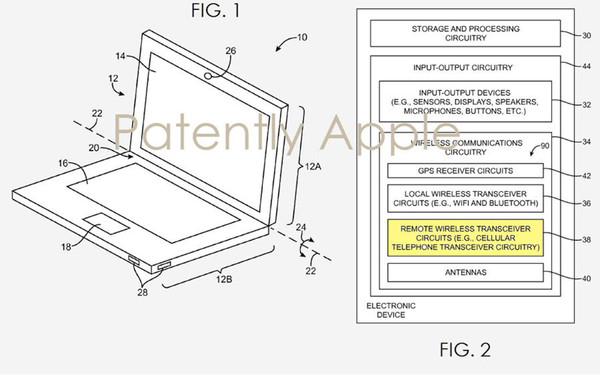 Brevet : Apple envisage un MacBook avec connexion cellulaire