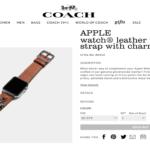 Apple Watch : les bracelets Coach se dévoilent avant l'heure