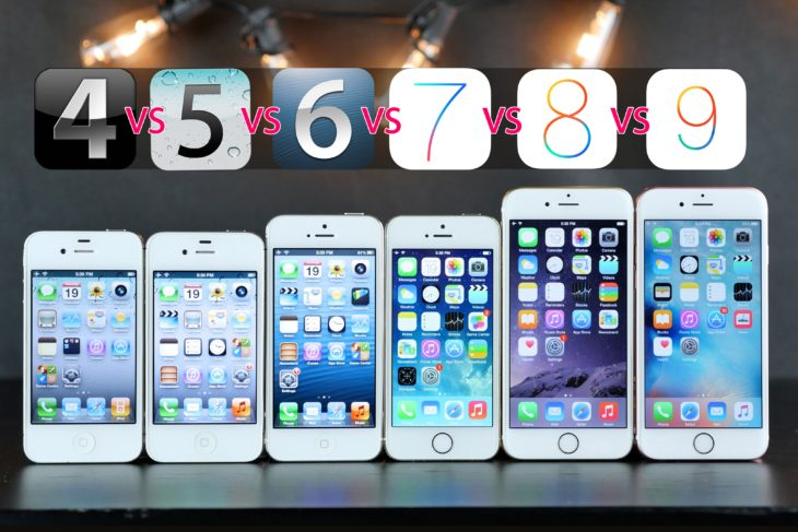 iPhone : comparatif de tous les modèles, d'iOS 4 à iOS 9