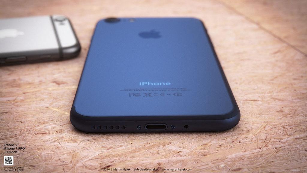 iPhone 7 bleu fonce concept martin hajek 3 1024x576 - iPhone 7 : un adaptateur Lightning pour les écouteurs avec prise jack ?