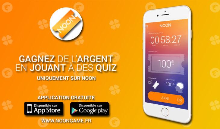 Noon: gagner de l'argent en répondant à des quiz sur iPhone