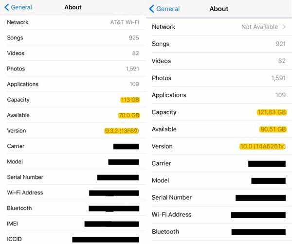 iPhone : iOS 10 prend moins de place qu'iOS 9