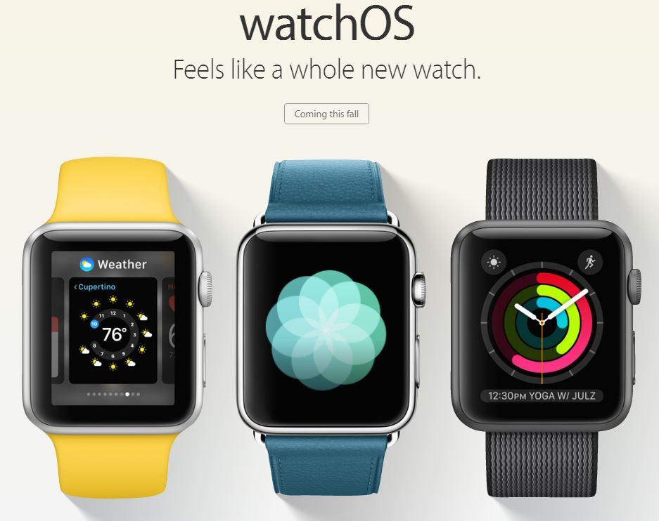 watchos 3 apple - Keynote WWDC 2016 : watchOS 3 pour l'Apple Watch dévoilé