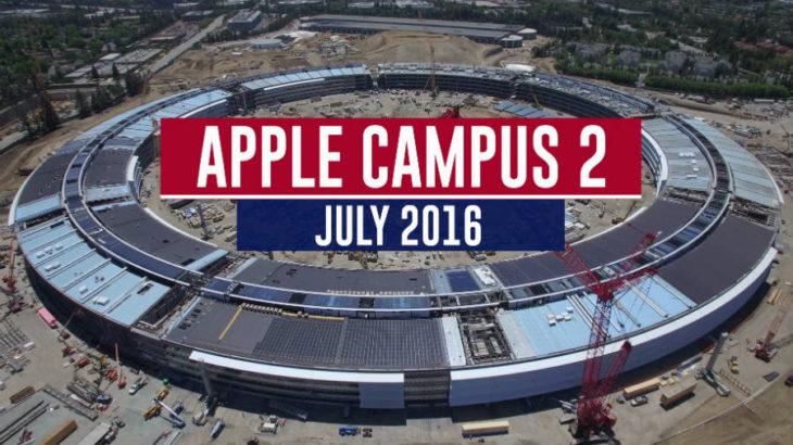 Apple : nouvelle vidéo de Campus 2, la soucoupe sort de terre