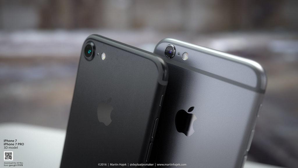 Concept iPhone 7 Bleu Noir Hajek 14 1024x576 - iPhone 7 : coloris noir, bouton Home tactile & 2e haut-parleur confirmés ?