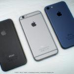 iPhone 7 Noir Sidéral & Bleu : sublime concept avec écouteurs Lightning