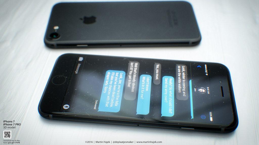 Concept iPhone 7 Bleu Noir Hajek 4 1024x576 - iPhone 7 : un trimestre record pour TSMC grâce au processeur A10 ?