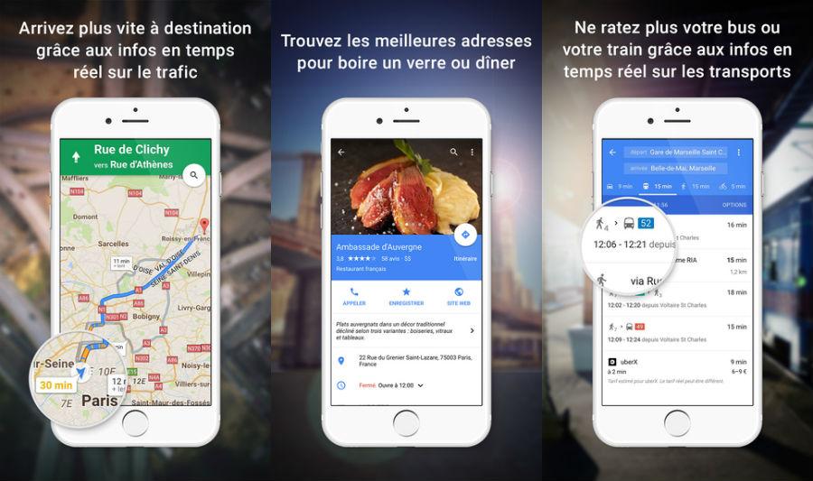 Google Maps iPhone - Google Maps iOS permet d'ajouter plusieurs destinations à un trajet