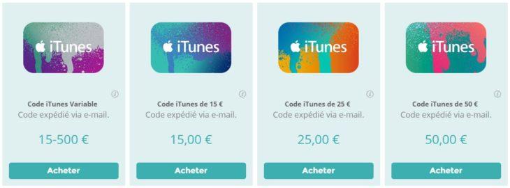 Startselect : acheter des codes iTunes en toute simplicité
