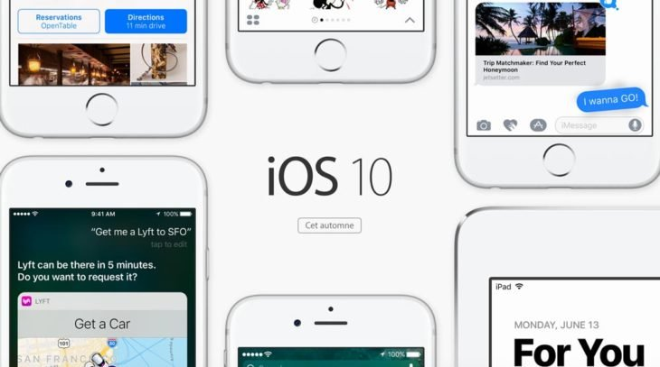 iOS 10 bêta 7 disponible sur iPhone, iPad, iPod Touch