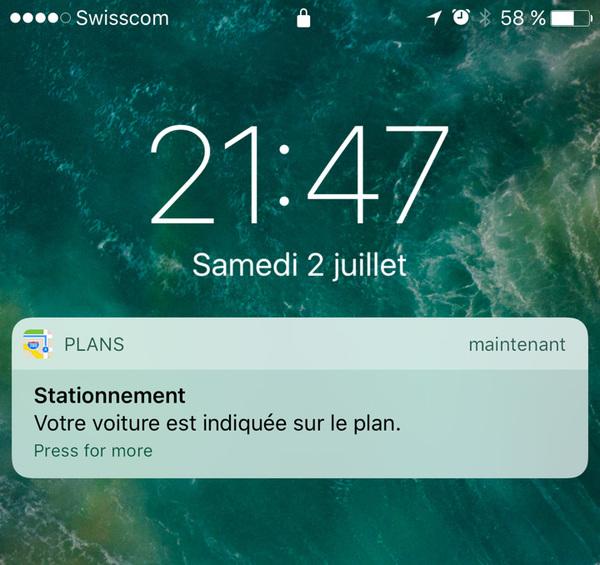 iOS 10 : Plans enregistre la position de votre véhicule même sans réseau