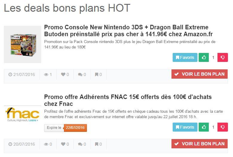 zideals bons plans hot - Zideals : les deals et bons plans chauds du web