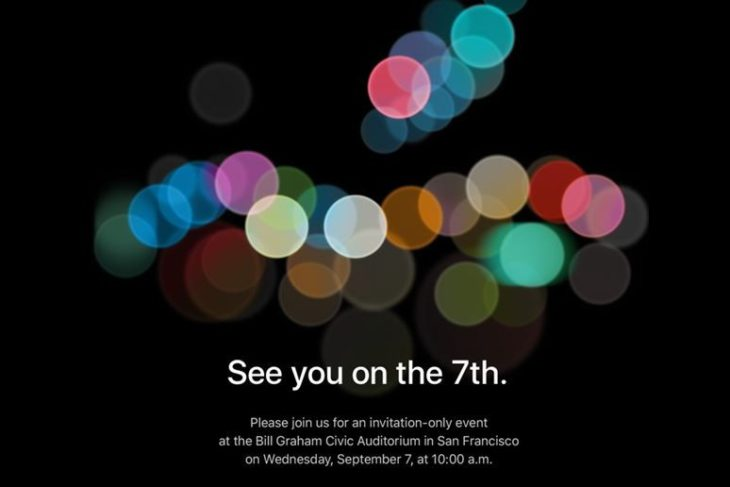 Apple : la keynote iPhone 7 fixée au 7 septembre (officiel)