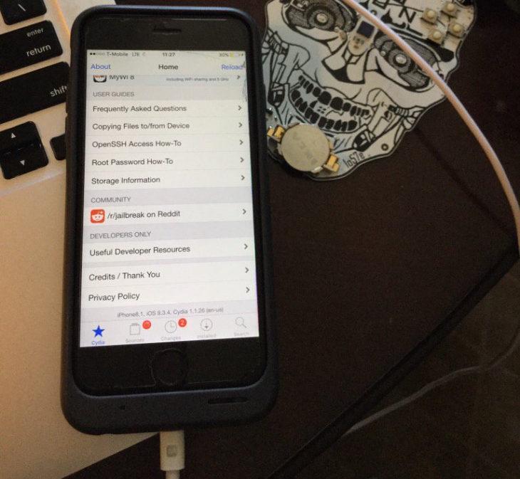 Jailbreak iOS 9.3.4 : réussi sur iPhone 6S en seulement 24 heures