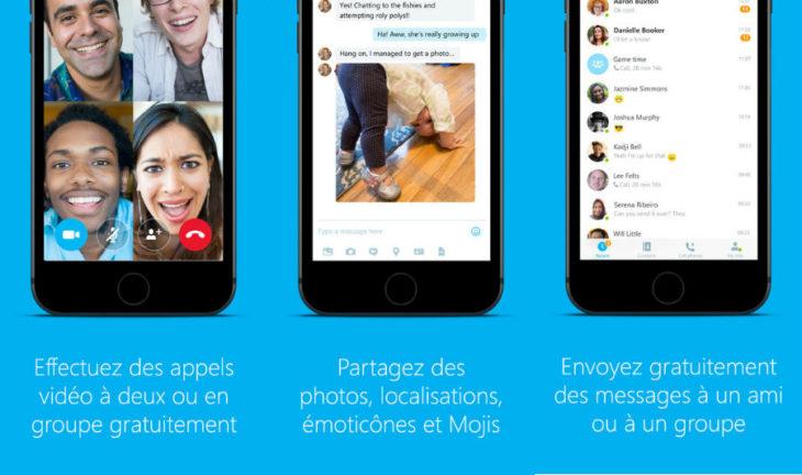 Skype : nouvelle barre d'état, notifications améliorées sur iPhone & iPad