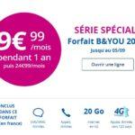 B&You : un forfait avec 20 Go d'Internet à 9,99€/mois pendant 1 an