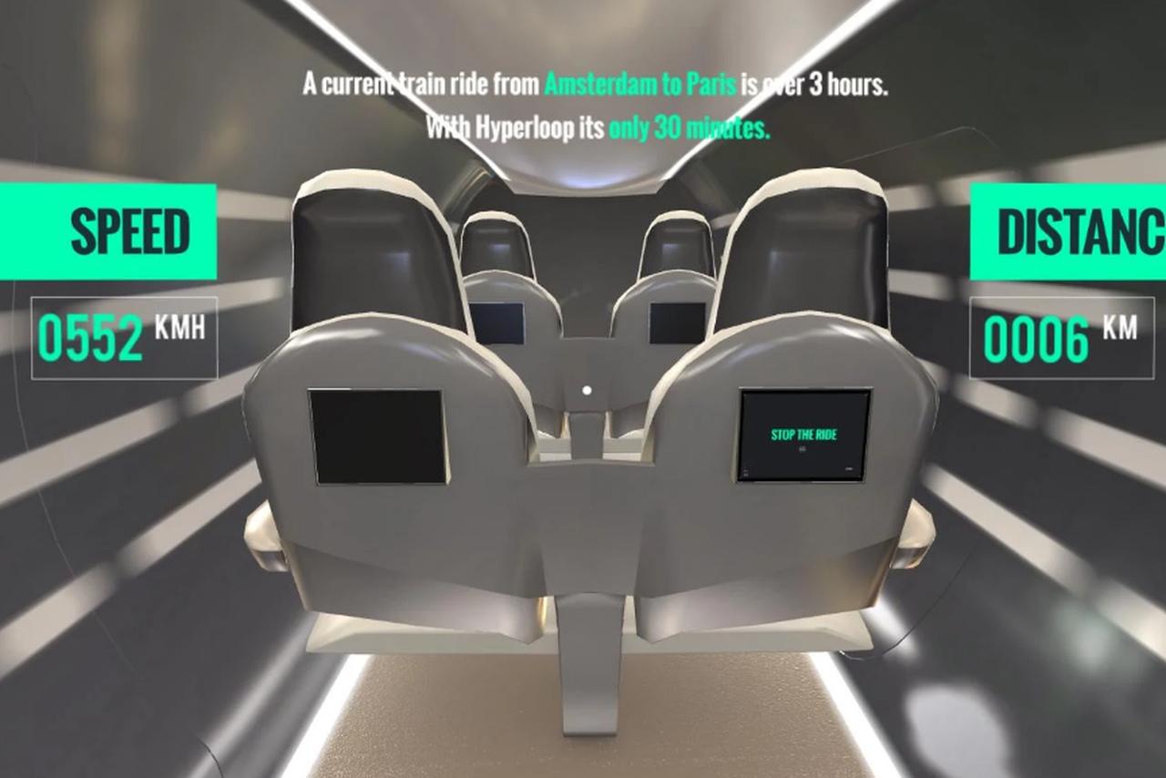 hyperloop vr - Hyperloop VR : un voyage Paris-Amsterdam en réalité virtuelle sur iPhone