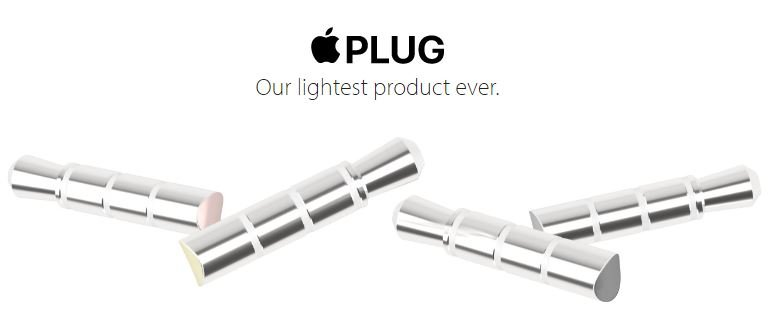 Apple Plug iPhone 6S 7 - Humour : l'Apple Plug transforme l'iPhone 6S en iPhone 7