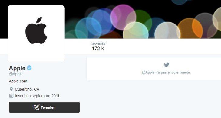 Apple a enfin son compte officiel sur Twitter (@Apple)