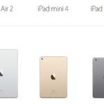 iPad Mini 2, 4 & iPad Air 2 : Apple augmente le stockage