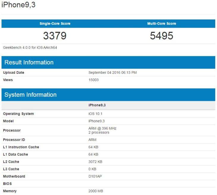 iPhone 7 : un 1er benchmark de ses caractéristiques techniques ?