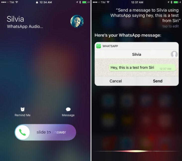 WhatsApp mise en jour pour iOS 10 (Siri, appels sur l'écran verrouillé)