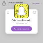 Snapchat Cristiano Ronaldo : compte officiel