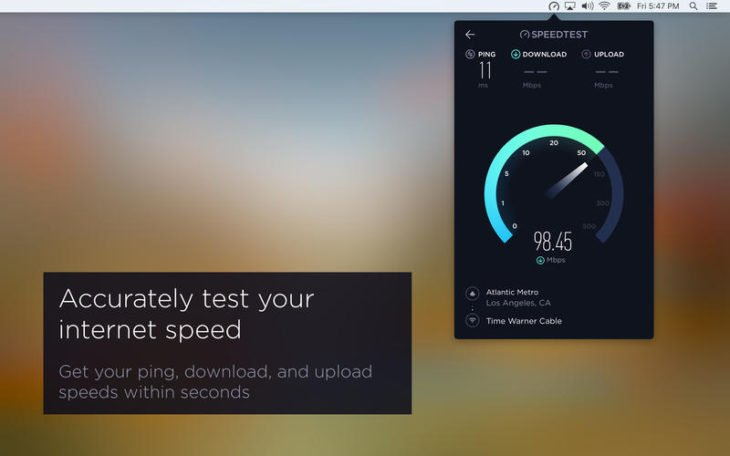 Test débit : Speedtest enfin disponible sur Mac