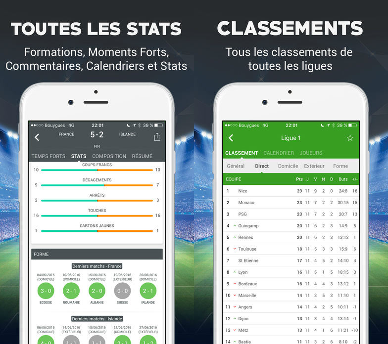 foot en direct ios app - Foot en Direct : l'app ultime de football sur iPhone, iPad, iPod Touch