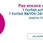 B&You : un forfait 24/24 20 Mo (4G) à 1€/mois pendant un an