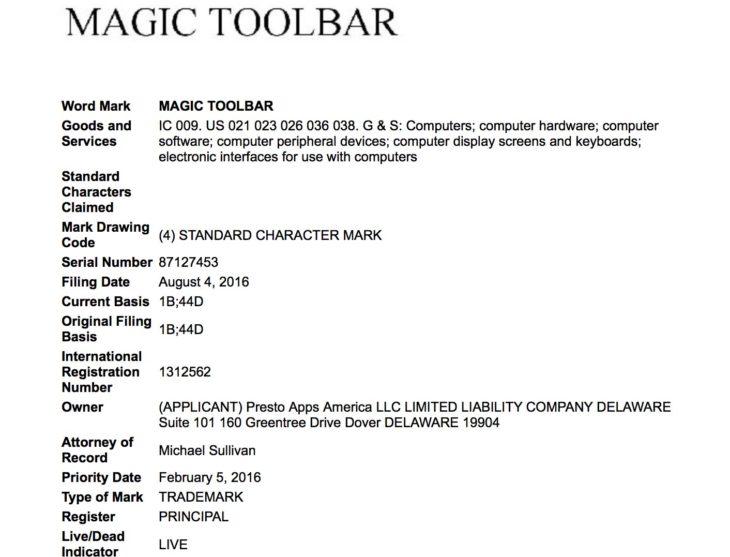 MacBook Pro 2016 : le nom de la barre OLED pourrait être Magic Toolbar