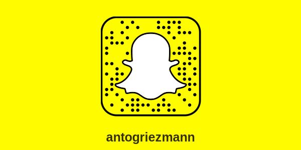 snapchat antoine griezmann e1510170653722 - Snapchat Antoine Griezmann : compte officiel