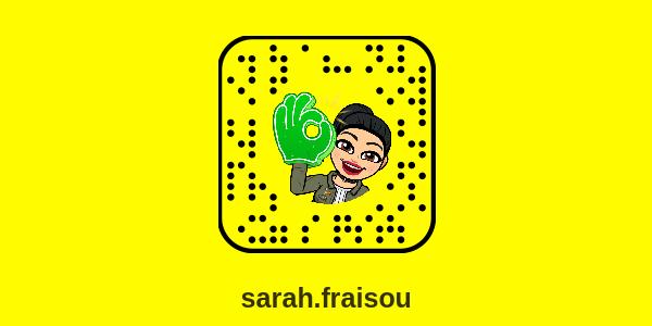 snapchat sarah fraisou e1510173631724 - Snapchat Sarah Fraisou : compte officiel