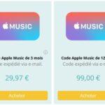 Startselect propose désormais d'acheter des codes Apple Music