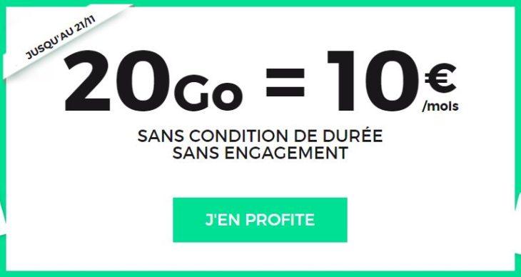 SFR RED : un forfait 4G 20 Go à 10€/mois à vie !