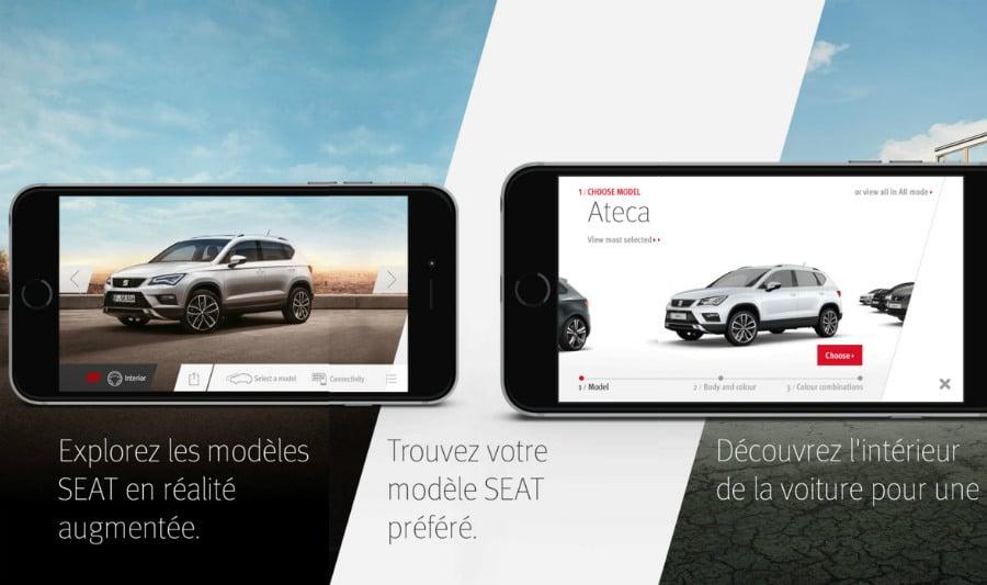 SEAT realite augmentee app - SEAT Augmented Reality : votre future voiture en réalité augmentée