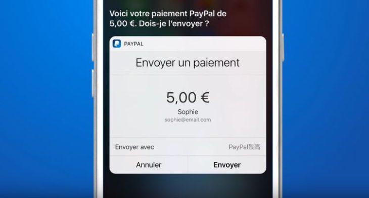 PayPal sur iPhone permet d'envoyer de l'argent via Siri (iOS 10)