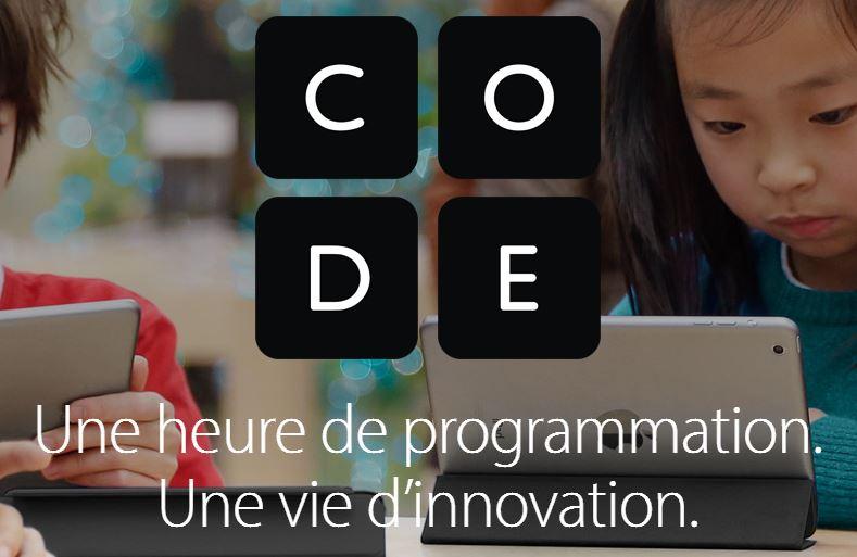 """apple heures de code 2016 - Apple lance son atelier """"Heure de Code"""" pour les enfants"""