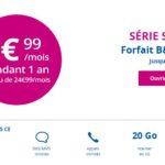 B&You : un forfait 4G 20 Go à 9,99€/mois pendant 1 an