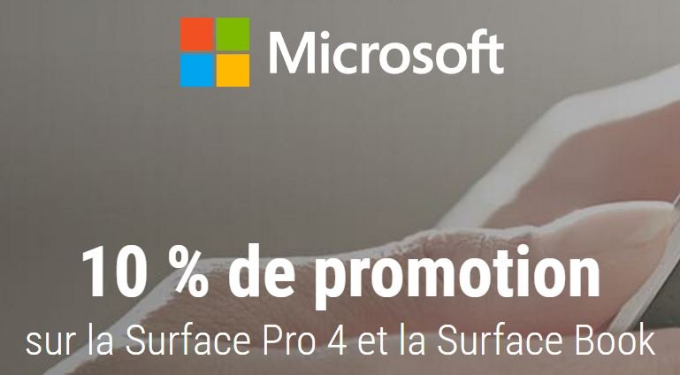 code-promo-microsoft-surface-pro-4-book