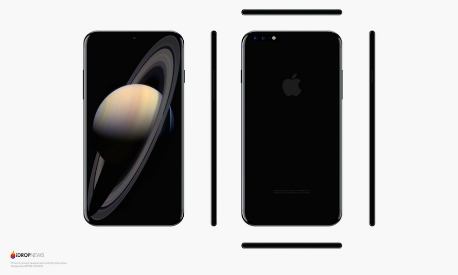 concept iphone 8 idropnews 1 - iPhone 8 : un concept noir et blanc tout tactile