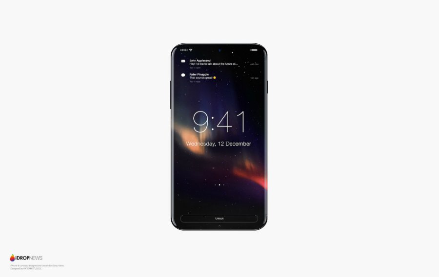 concept iphone 8 idropnews 2 - iPhone 8 : un concept noir et blanc tout tactile