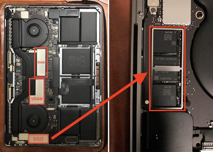 MacBook Pro avec Touch Bar : le SSD est soudé et ne peut être remplacé