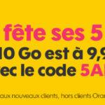 Sosh : forfait 4G 10Go à 9,99€/mois pendant 1 an
