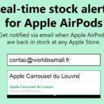 AirPods : soyez alerté de leur disponibilité en Apple Store