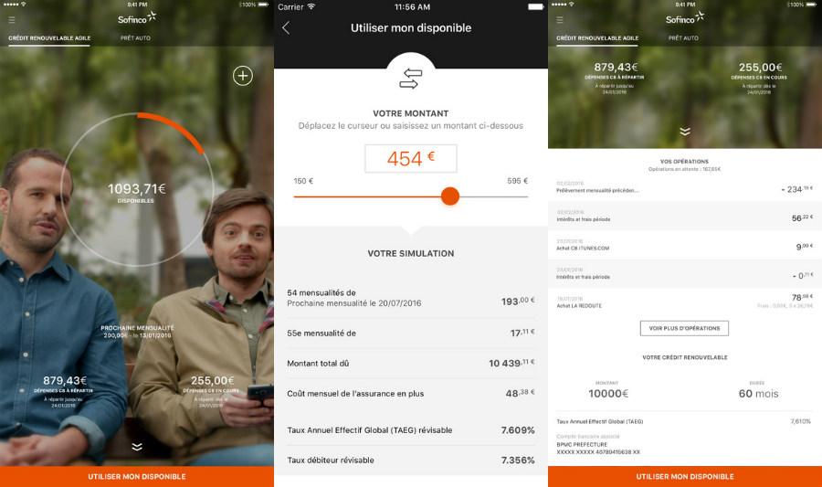 Sofinco app iphone - Sofinco : un crédit conso en 15 minutes sur son smartphone