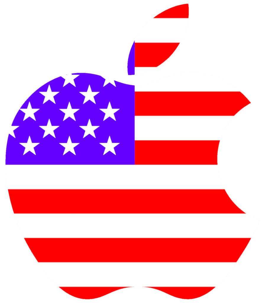 apple logo usa 896x1024 - L'iPhone sera-t-il un jour fabriqué aux États-Unis ?