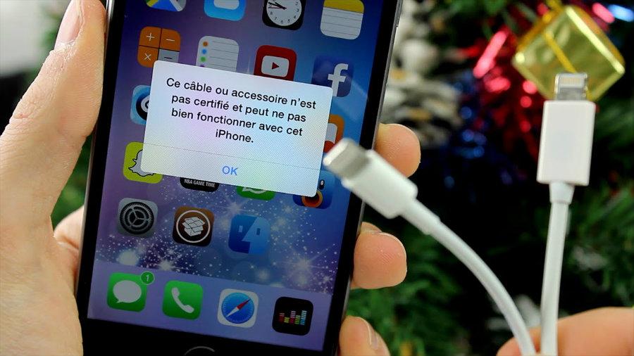 cable chargeur iphone contrefacon - Apple déconseille les chargeurs iPhone & iPad non certifiés (contrefaçons)